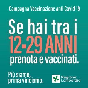 Campagna Vaccinale fascia di età 12-29 anni